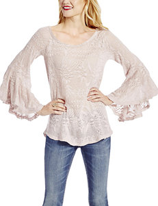 Jessica Simpson Pink Crochet Top