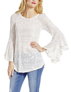 Jessica Simpson White Crochet Top