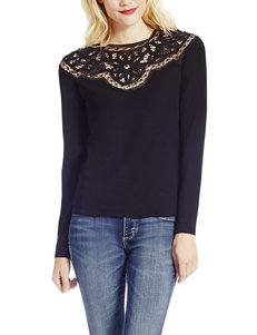 Jessica Simpson Black Lace Knit Top