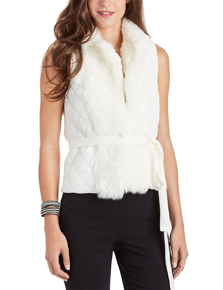 XOXO White Puffer & Quilted Jackets Vests