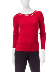XOXO Red Pull-overs Sweaters