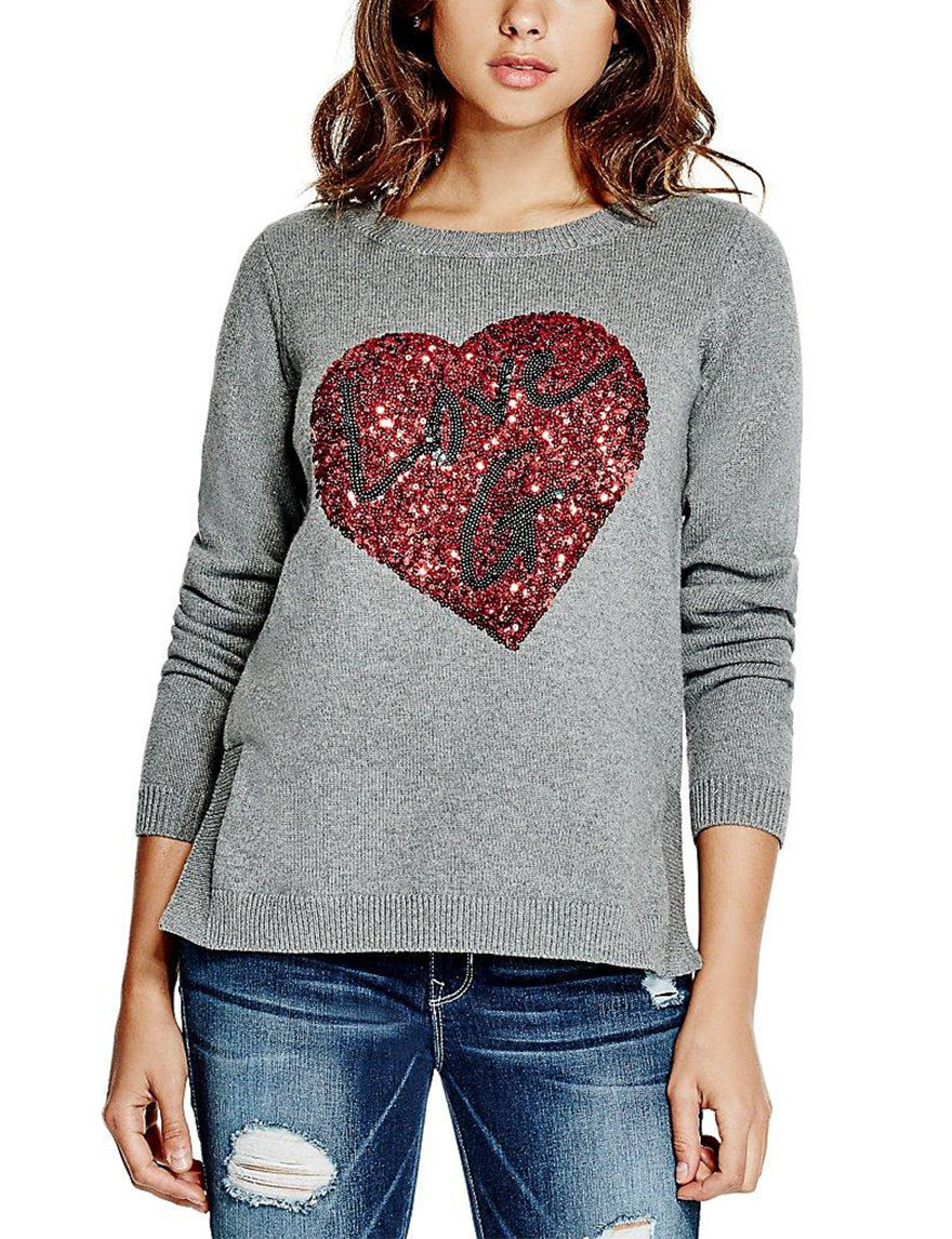 G by Guess Grey Pull-overs Sweaters