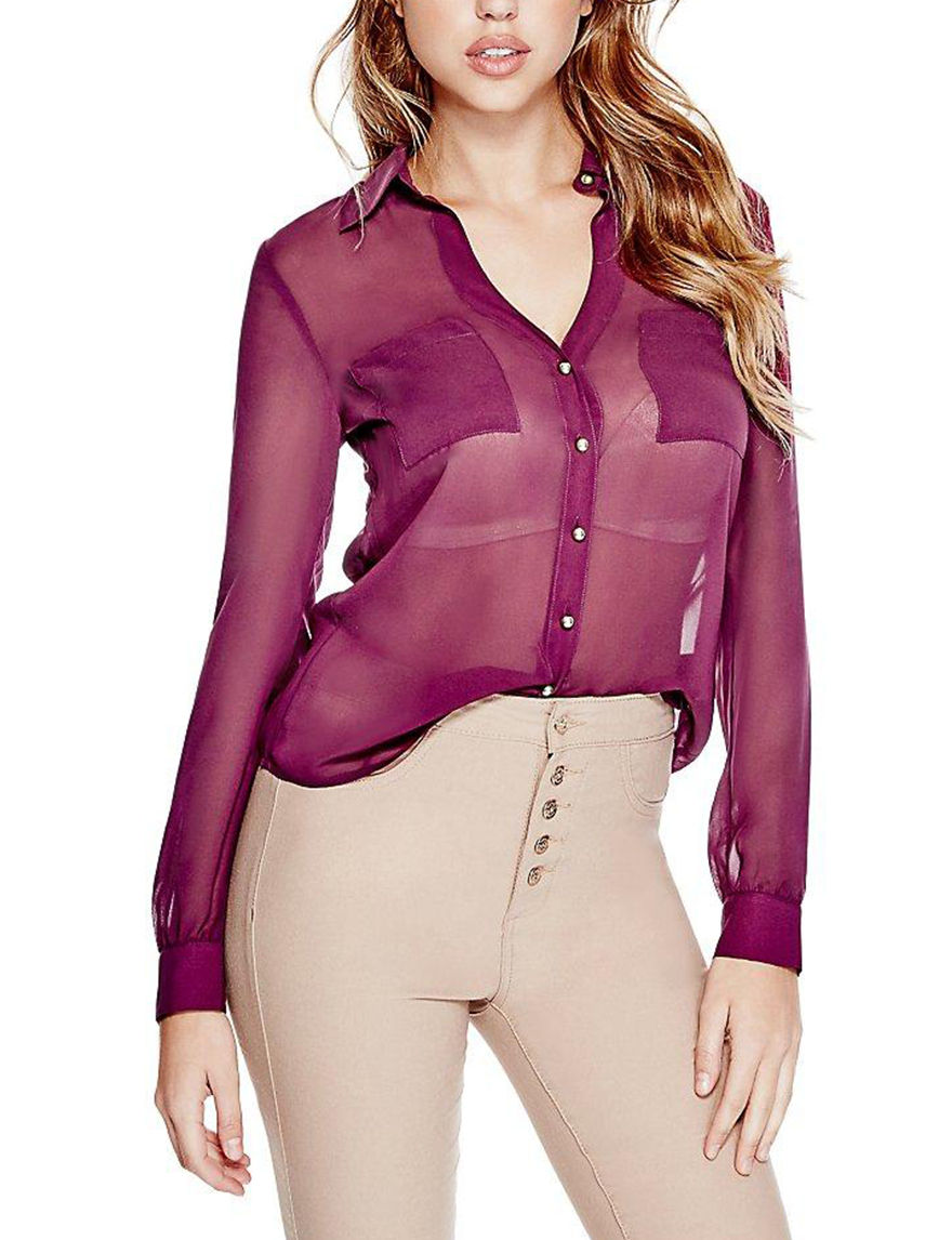 G by Guess Red Shirts & Blouses