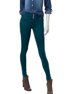 Amethyst Teal Hight Waisted Jeans