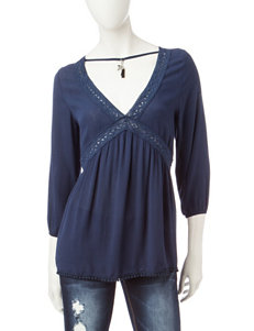 Almost Famous Navy Choker Top