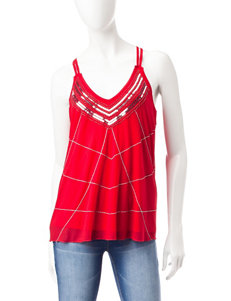 My Michelle Red Sequin Detailed Tank Top
