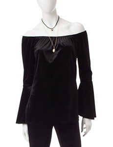 Heart Soul Black Velvet Tunic & Two Fashion Necklaces