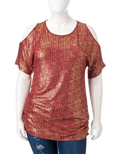 Heart Soul Junior-plus Red & Gold Crackle Top