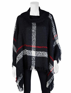 A. Byer Black Ponchos Pull-overs