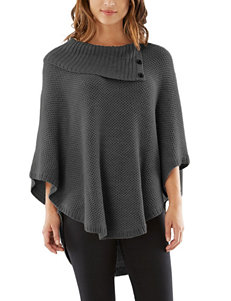 A. Byer Charcoal Ponchos Pull-overs