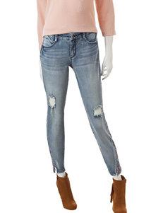 Signature Studio Medium Wash Embroidered Jeans