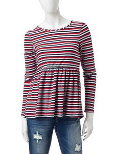 Ultra Flirt Navy Shirts & Blouses