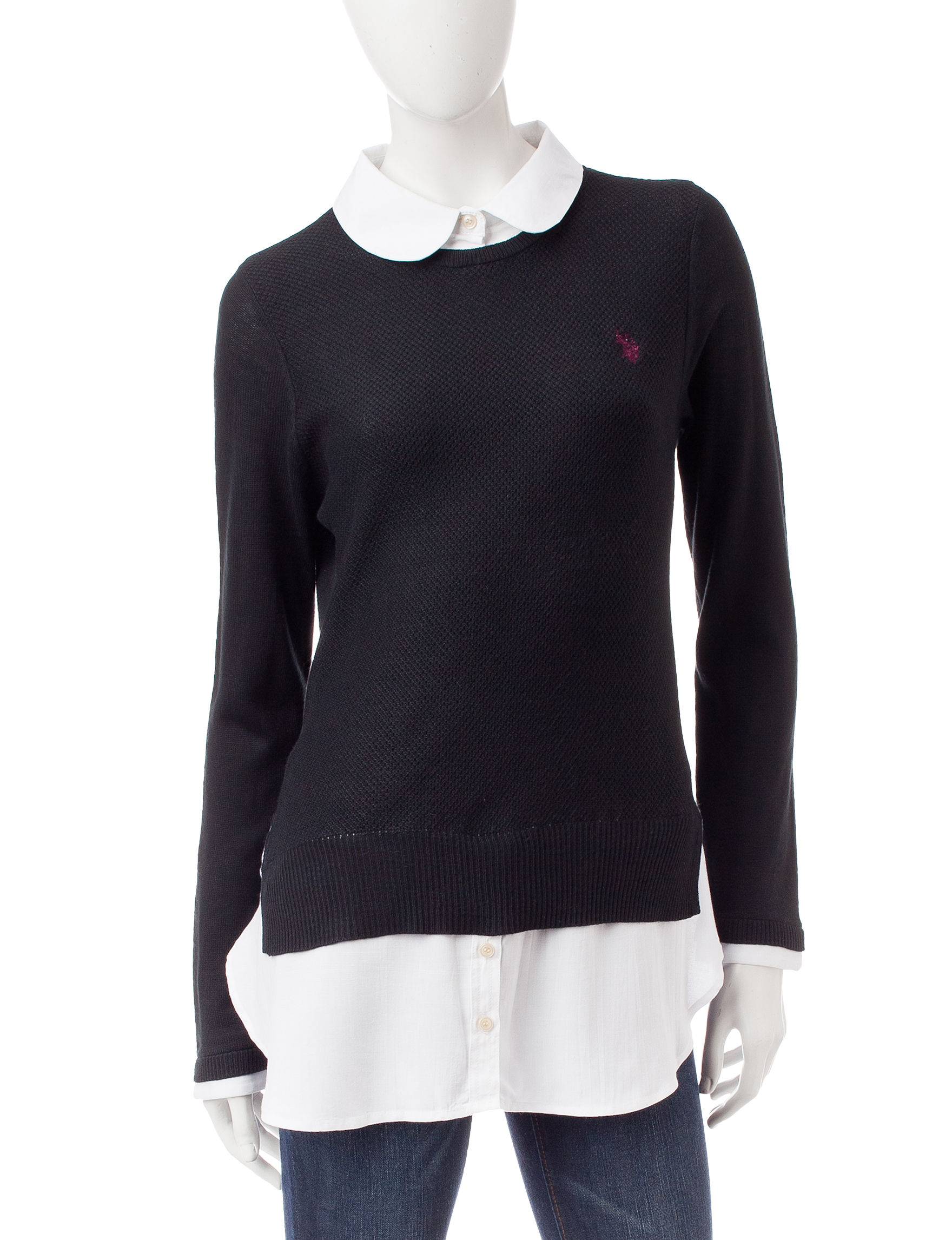 U.S. Polo Assn. Black Pull-overs Sweaters