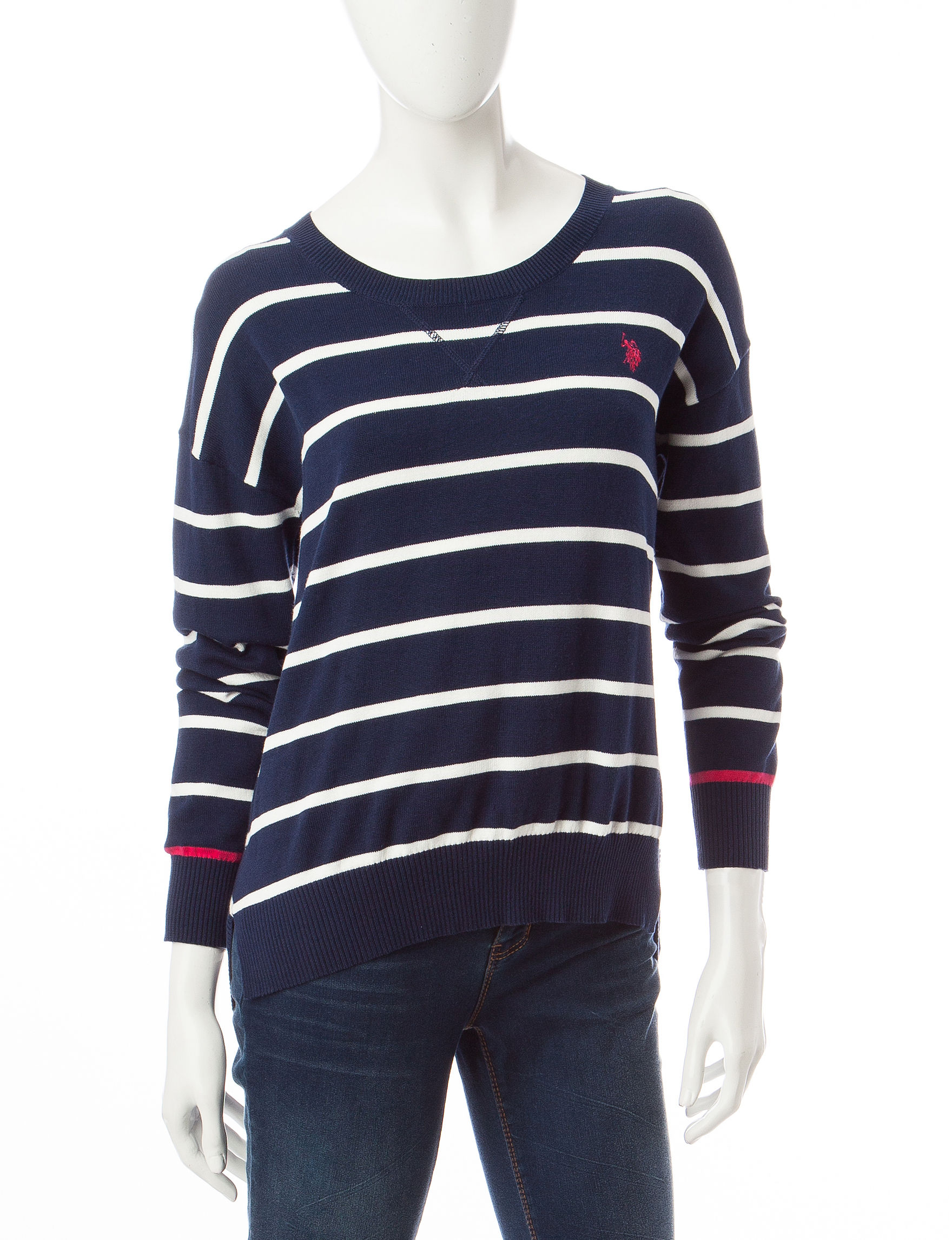 U.S. Polo Assn. Navy Pull-overs Sweaters