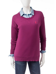 U.S. Polo Assn. Purple Pull-overs
