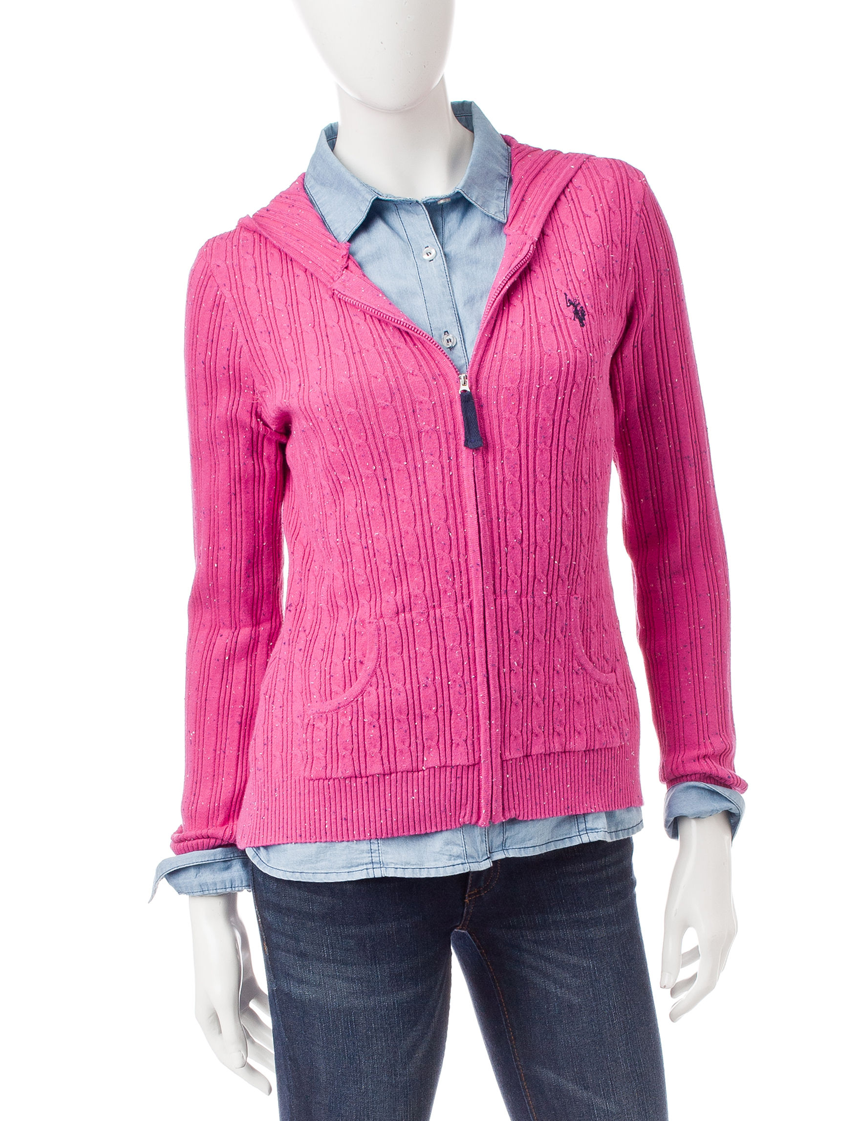U.S. Polo Assn. Berry Cardigans Sweaters