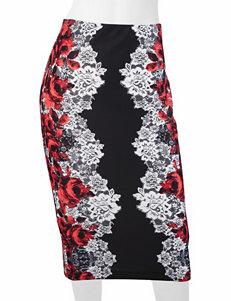A. Byer Floral Print Midi Skirt