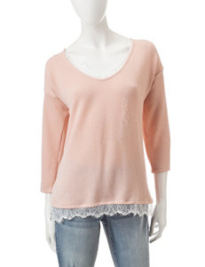 Signature Studio Pink Lace Detailed Top