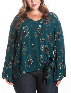 Eyeshadow Juniors-plus Floral Print Top