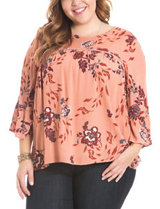 Eyeshadow Blue Floral Shirts & Blouses