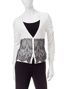 XOXO Black & White Lace Cardigan