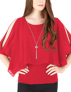 A. Byer Red Shirts & Blouses