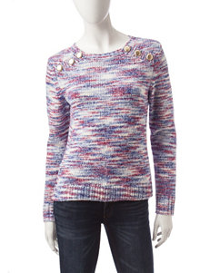 Kensie Multicolor Spacedye Knit Sweater