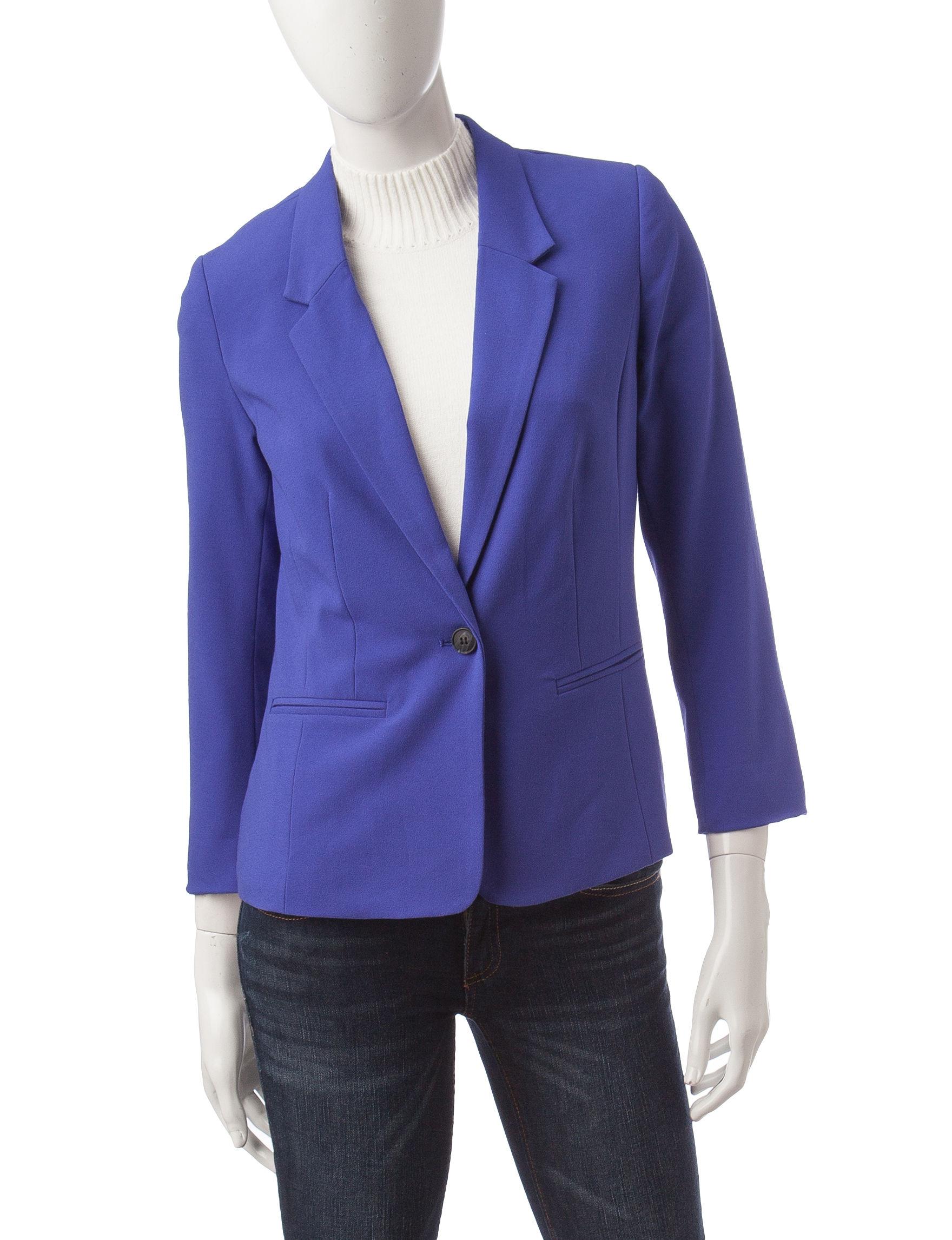 Kensie Purple Lightweight Jackets & Blazers