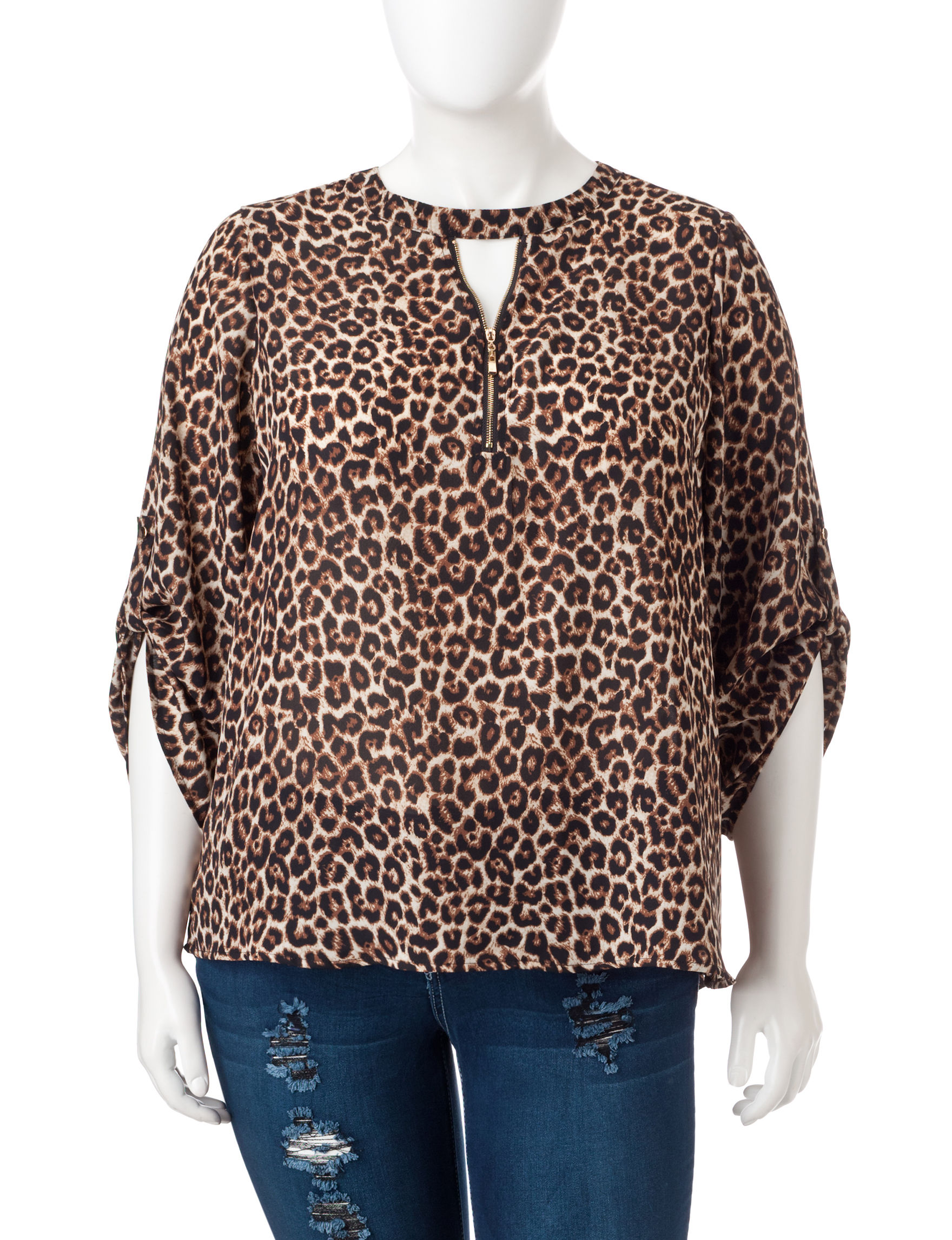 Justify Cheetah Shirts & Blouses