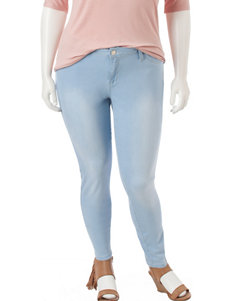 YMI Juniors-plus Light Wash Skinny Jeans