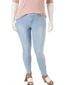 YMI Junior-plus Light Wash Skinny Jeans
