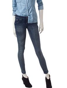 Amethyst Dark Wash Glitter Skinny Jeans