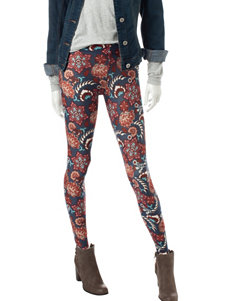 Justify Blue Floral Leggings