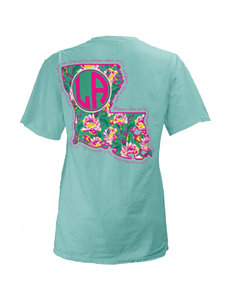 Louisiana Floral State Top