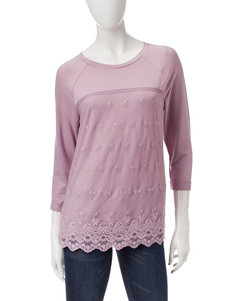 Star Scene Lavender Lace Front Top