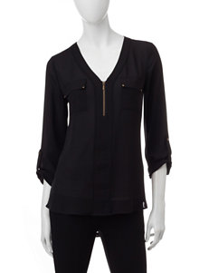 My Michelle Black Pull-overs Shirts & Blouses