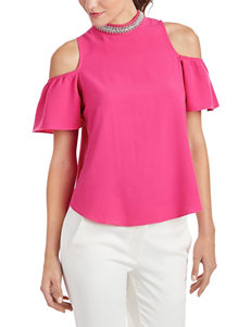 XOXO Pink Cold Shoulder Top
