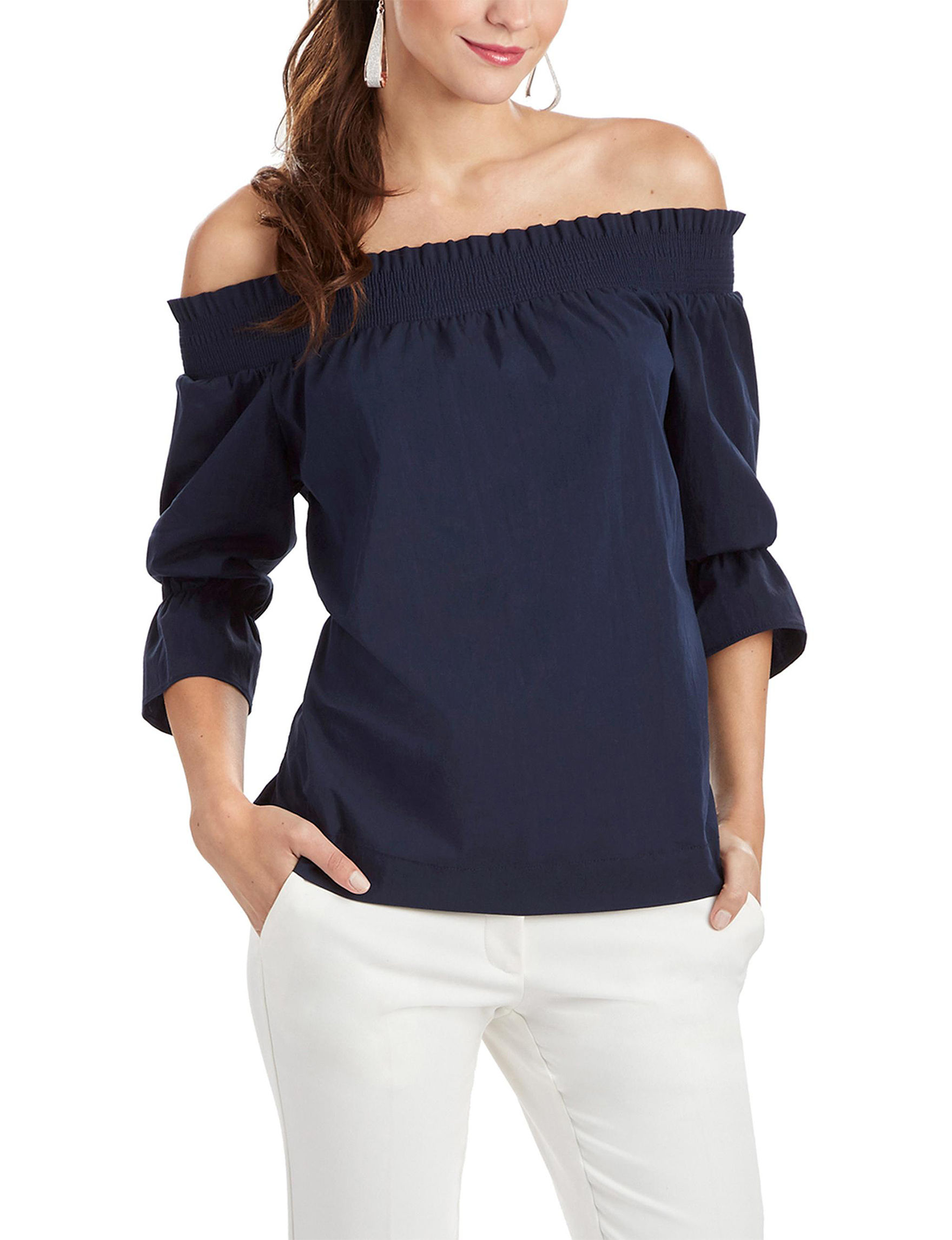 XOXO Navy Shirts & Blouses