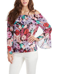 XOXO Floral Print Off The Shoulder Top