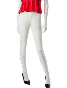 BeBop White Diamond Texture Pants