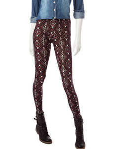 Justify Burgundy Bandana Print Leggings