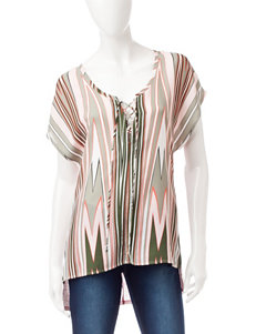 Heart Soul Multicolor Abstract Print Top