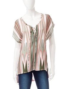 Heart Soul Olive Shirts & Blouses