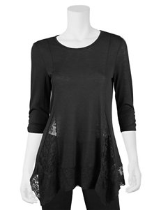 A. Byer Lace Inset Tunic Top