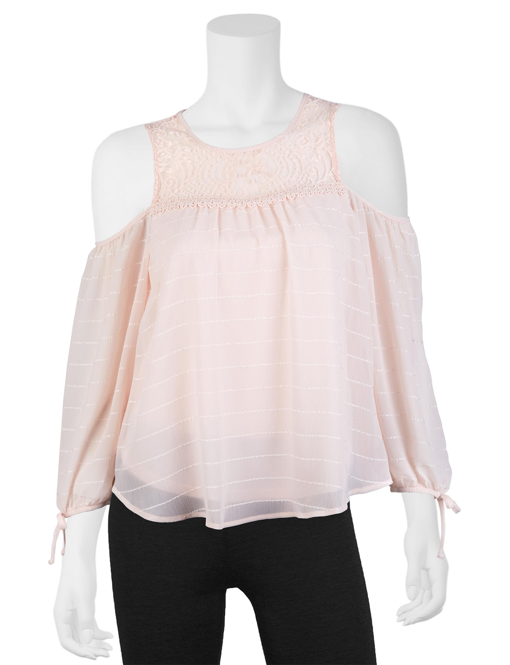 A. Byer Pink Pull-overs Shirts & Blouses