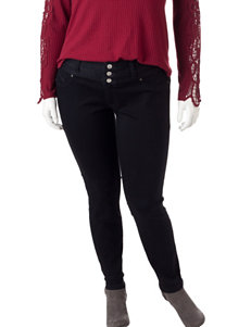 Amethyst Juniors-plus Black High-waisted Jeans