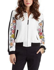 XOXO Floral Print Bomber Jacket