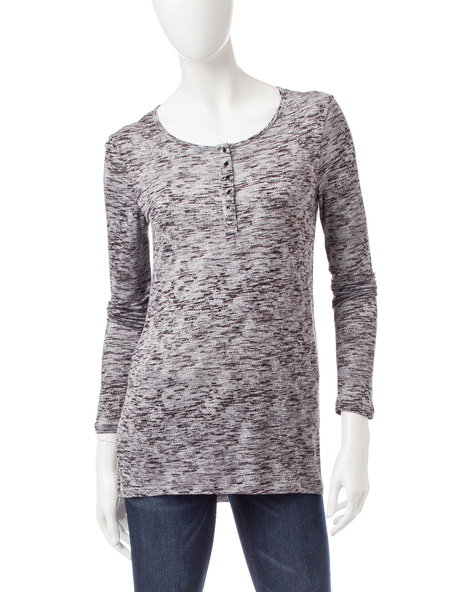 Kensie Grey / Black Shirts & Blouses