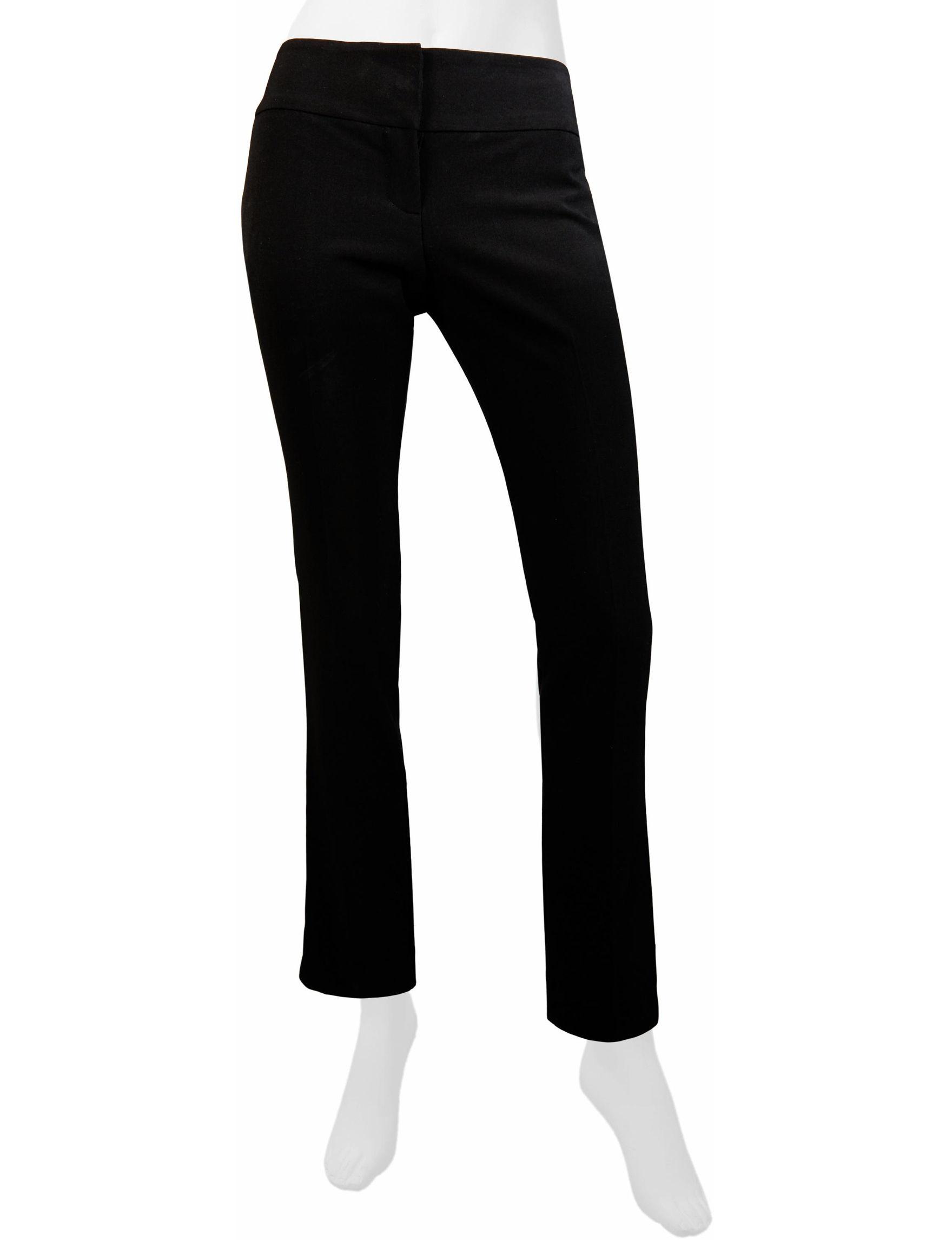 A. Byer Black Capris & Crops Relaxed Straight Skinny Slim Slim Straight