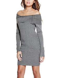 G by Guess Off-The-Shoulder Ribbed Knit Dress